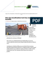 Mining Weekly - New dry beneficiation tech has multiple benefit