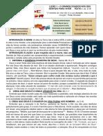 LIÇÃO 1 – O GRANDE DOADOR NOS DEU SENTIDO PARA VIVER- LIDER [7621]