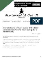 ¿Cómo instalar el software Isuzu G-IDSS E-IDSS_ El _ Herramientas OBD2 para coche