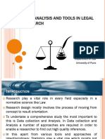 data analysis and tools in legal research