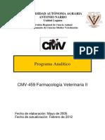 Programa Farmacologìa Veterinaria II