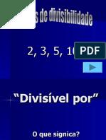 Critérios divisibilidade