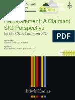 Presentation---CILA-Claimant-SIG-Seminar---Reinstatement---A-Claimant-SIG-Perspective-London---22NOV16