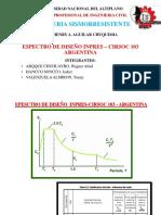 Espectro de Diseño ARGENTINA G4