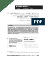 NATURALEZA JURÍDICA DE LA ACUSACIÓN DIRECTA  VS. LA FORMALIZACIÓN DE LA INVESTIGACIÓN PREPARATORIA EN LA PRESCRIPCIÓN Y SUSPENSIÓN DE LA ACCIÓN PENAL - NELVIN ESPINOZA GUZMAN