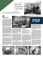 Artículo periodístico sobre el comedor IME