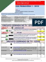 Lista de precios PRIMAVERA 1 2019 CCTV NO DPP