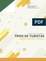 GEMA SALTOS TOALA-TIPOS DE TURISTAS SEGUN SU GENERACIÓN