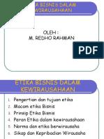etika kewirausahaan 1
