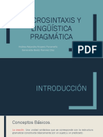 Macrosintaxis y lingüística pragmática