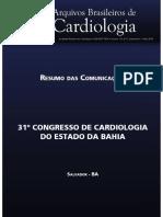 Anais do Congresso de Cardiologia