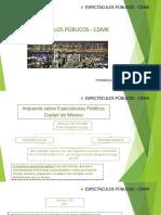 Prestacion de Espectaculos Publico CDMX