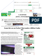 Scam-hit cos on Forbes' 'Best under a Billion' India list