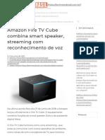 Lançado novo Media Player Amazon Fire TV Cube