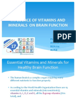 INFLUENCE  OF MICRONUTRIENTS ON BRAIN FUNCTION