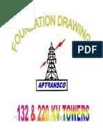 132 KV & 220 KV APTRANSCO -Foundation-Drawings.pdf