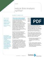 Schedule Risk Analysis Simplified