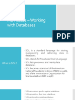 MS Access – Working with Databases