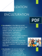 Socio 5 - Socialization and Enculturation