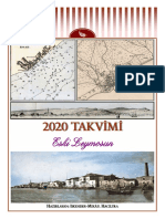 2020 calendar - Old Limassol (Turkish)