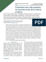 Development of functional cake with probiotics and prebiotics for insertion in the diet of elderly institucionalized elderly