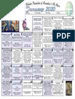 2020 January Festal Calendar