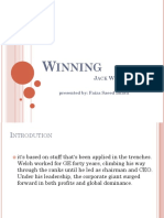 Winning, by Jack Welch.ppt