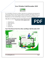 5 Best Tech News Websites Until December 2019