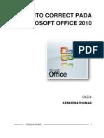Auto Correct Pada Microsoft Office 2010