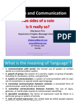 Two SideS of Coin - Language and Communication