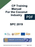 HACCP Coconuts 2019