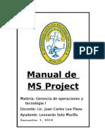 Manual de MS Project Compilado