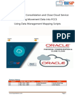 Oracle FCCS Movement Data Load Using Mapping Script