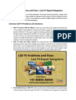 Led TV Problems and Fixes | Led TV Repair Bangalore
