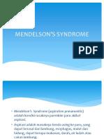 MENDELSON'S SYNDROME