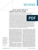 Nonlinear optical effects in eps-near-zero-media-Review-Nature