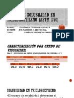 Ensayo de solubilidad en tricloroetileno (astm d70