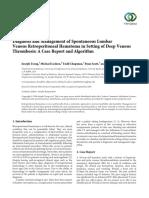 Retroperitoneal hematoma case reports in Radiology