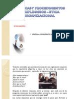 POLITICAS Y PROCEDIMIENTOS DISCIPLINARIOS – ETICA ORGANIZACIONAL EN LOS RRHH