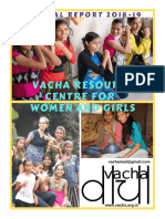 Vacha Resource Centre for Women & Girls Annual Report 2018-19
