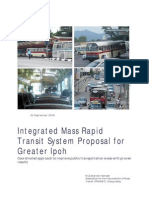 Proposal for Greater Ipoh's Integrated Mass Rapid Transit System