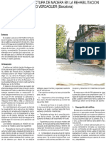 Analisis de la estructura de madera en la rehabilitacion del ijVerdaguer