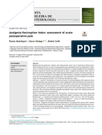 PR Analgesia Nociception Index assessment of acute postoperative pain