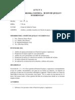 ACTA buzon quejas y sugerencias