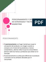 POSICIONAMIENTO Y DESARROLLO DE ESTRATEGIAS Y TACTICAS