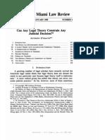 Legal Theory Constrain Judicial Decision