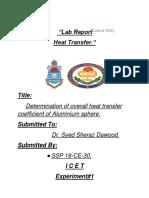 heat transfer lab report