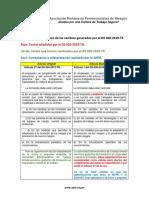 Cuadro comparativo de los cambios del DS 020-2019-TR