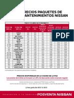 tabla de precios mantenimientos LPZ