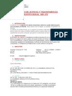 MINISTERIO DE JUSTICIA Y TRANSPARENCIA INSTITUCIONAL  MIN-JTI